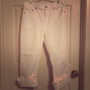 Lucky Brand White Cut Offs